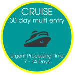 Cruise Visa 30 day Multiple Entry 7-14 Days Urgent Processing