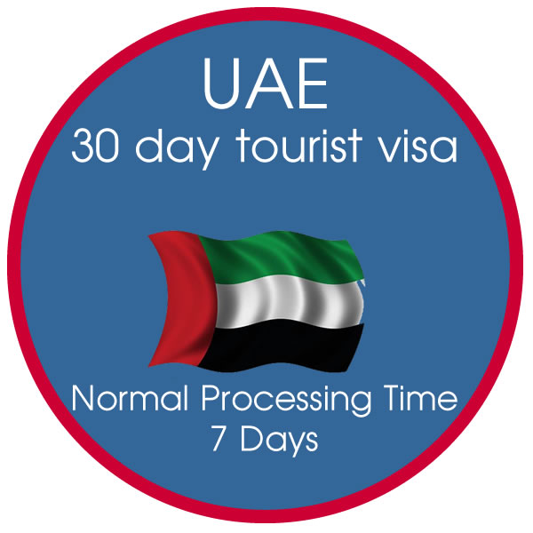 30 Day Single Entry Tourist Visa  7 Day Processing