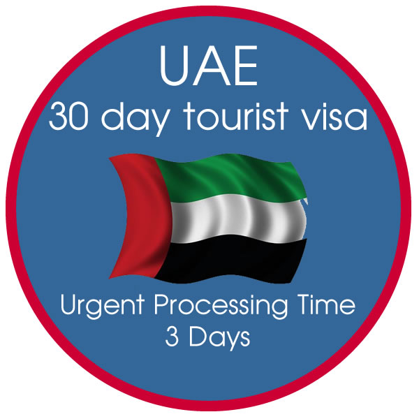 Urgent 30 Day UAE Tourist Visa 3 Day Processing