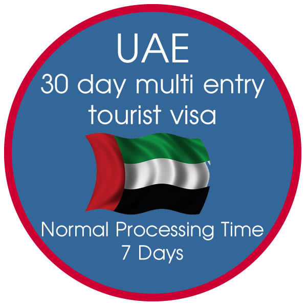 30 Day Multiple Entry Tourist Visa 7-10 Day Processing